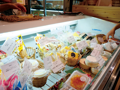 チーズは常時50種類以上